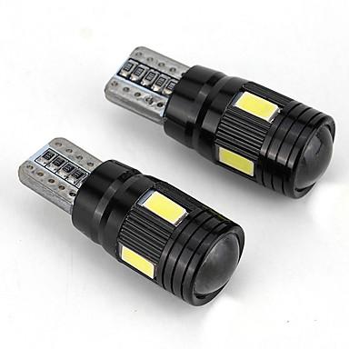 Недорогие Противотуманные фары-2pcst10 светодиодная фара ближнего света ближнего света фар 6000K ближнего света - черный