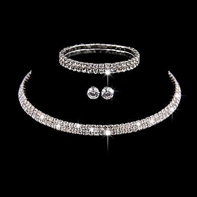 ieftine Seturi de Bijuterii-Pentru femei Argintiu Zirconiu Cubic Seturi de bijuterii Seturi de bijuterii de mireasă Multistratificat Αστέρι Stilat Lux European Dulce Cute Stil cercei Bijuterii Argintiu Pentru Nuntă Petrecere