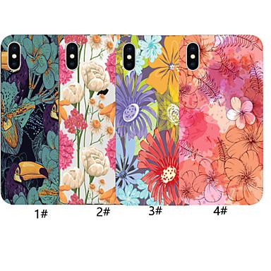 Недорогие Кейсы для iPhone-чехол для яблока iphone xr / iphone xs max цветочный узор задняя крышка цвет градиента мягкий тпу для iphone x xs 8 8plus 7 7plus 6 6plus 6s 6s plus