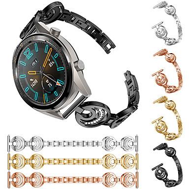 Недорогие Ремешки для часов Huawei-Ремешок для часов для Huawei Watch GT / Watch 2 Pro Huawei Спортивный ремешок / Дизайн украшения Нержавеющая сталь Повязка на запястье