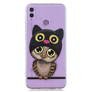 voordelige Huawei Mate hoesjes / covers-hoesje voor huawei honor 8x / huawei p smart (2019) patroon / transparante achterkant uil zachte tpu voor mate10 pro / mate10 lite / y6 (2018) / y5 (2018) / p20 lite / p smart / p20 pro