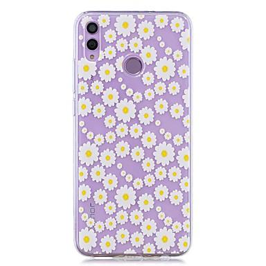 رخيصةأون Huawei أغطية / كفرات-حالة لهواوي الشرف 8x / huawei p smart (2019) / غطاء خلفي شفاف أقحوان أبيض ناعم تبو ل mate20 لايت / mate10 لايت / Y6 (2018) / p20 لايت / نوفا 3 i / p smart / p20 pro