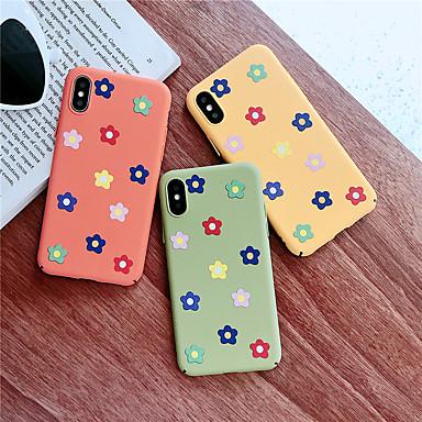 Недорогие Кейсы для iPhone 6-Кейс для Назначение Apple iPhone XS / iPhone XR / iPhone XS Max С узором Кейс на заднюю панель Цветы Твердый ПК