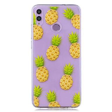 voordelige Huawei Mate hoesjes / covers-hoesje voor huawei honor 8x / huawei p smart (2019) patroon / transparante achterkant ananas zachte tpu voor mate20 lite / mate10 lite / y6 (2018) / p20 lite / nova 3i / p smart / p20 pro