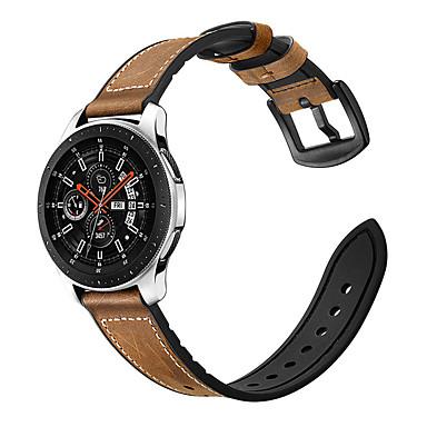 Недорогие Часы для Samsung-Ремешок для часов для Gear S3 Frontier / Gear S3 Classic / Samsung Galaxy Watch 46 Samsung Galaxy Спортивный ремешок / Классическая застежка силиконовый / Натуральная кожа Повязка на запястье