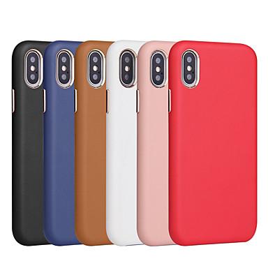Недорогие Кейсы для iPhone 7-чехол для яблока iphone xr / iphone xs max матовая задняя крышка однотонная мягкая искусственная кожа для iphone x xs 8 8plus 7 7plus 6 6s 6plus 6s plus