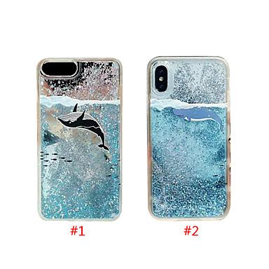 Недорогие Кейсы для iPhone 7 Plus-чехол для яблока iphone xs max / iphone 8 plus diy / протекающая жидкость / противоударная задняя крышка для животных / блестящий блеск жесткий тпу для iphone 7/7 plus / 8/6/6 plus / xr / x / xs