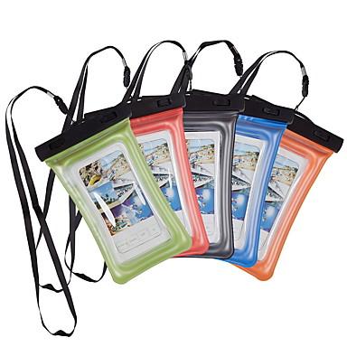 Недорогие Универсальные чехлы и сумочки-Кейс для Назначение универсальный Универсальный Защита от влаги Водонепроницаемый мешочек Однотонный Мягкий PVC