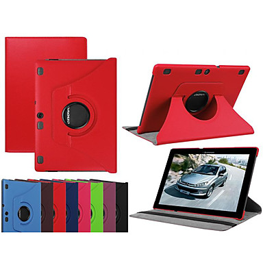 Недорогие Чехлы и кейсы для Lenovo-Кейс для Назначение Lenovo Lenovo Tab-X103F Защита от удара / со стендом / Ультратонкий Чехол Однотонный Твердый Кожа PU