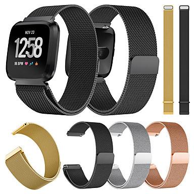 voordelige Smartwatch-accessoires-Horlogeband voor Fitbit Versa / Fitbit Versa Lite Fitbit Milanese lus Metaal / Roestvrij staal Polsband