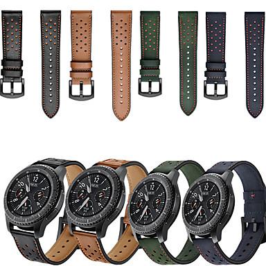 voordelige Horlogebandjes voor Samsung-Horlogeband voor Gear S3 Frontier / Gear S3 Classic / Samsung Galaxy Watch 46 Samsung Galaxy Sportband Echt leer Polsband