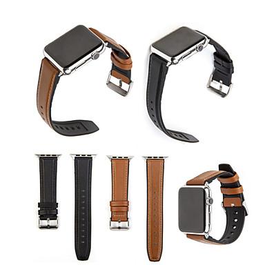 Недорогие Ремешки для Apple Watch-для яблочных часов серии 1/2/3/4 кожа тпу гибридная полоса