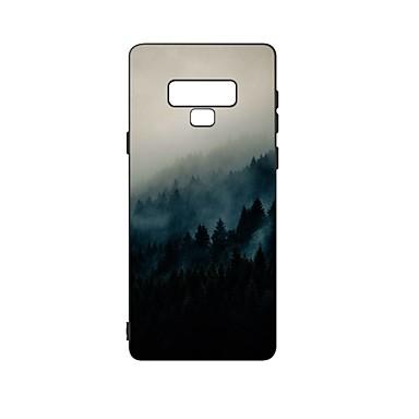 Недорогие Чехлы и кейсы для Galaxy Note-Кейс для Назначение SSamsung Galaxy Note 9 Защита от удара / Матовое / С узором Кейс на заднюю панель Пейзаж ТПУ