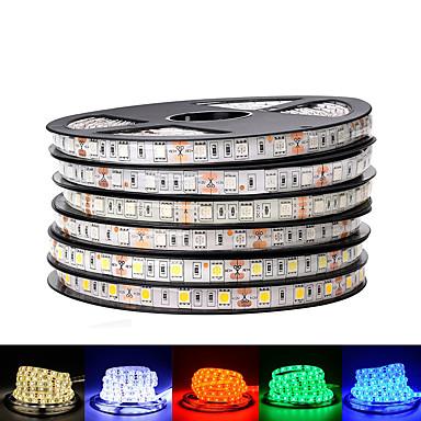 رخيصةأون شرائط ضوء مرنة LED-Loende 2 حزمة dc 12 فولت أدى قطاع 5050 smd 60 المصابيح / m أسود pcb مجلس مرنة أدى ضوء ماء rgb 5050 led الشريط للتلفزيون خلفية الديكور