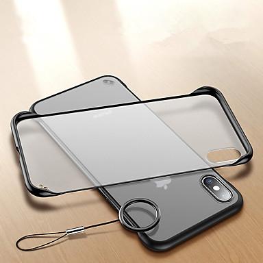Недорогие Кейсы для iPhone-Кейс для Назначение Apple iPhone XS / iPhone XR / iPhone XS Max Защита от удара / Кольца-держатели / Ультратонкий Кейс на заднюю панель Прозрачный Твердый Акрил / ПК
