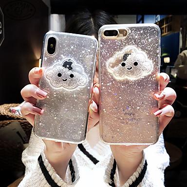 voordelige iPhone-hoesjes-case voor apple iphone xs max / iphone 8 plus vloeiende vloeistof / schokbestendig / stofdicht achterkant 3d cartoon / glitter shine / hart zachte tpu voor iphone 7/7 plus / 8/6/6 plus / xr / x / xs