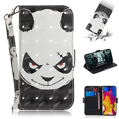 Недорогие Чехлы и кейсы для LG-чехол для LG v40 thinq / LG Stylo 5 / LG G8 thinq кошелек / визитница / противоударный чехлы для всего тела panda искусственная кожа