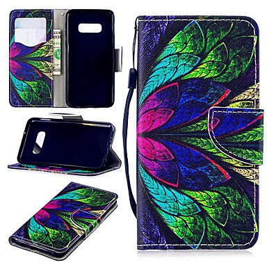 voordelige Galaxy S-serie hoesjes / covers-hoesje Voor Samsung Galaxy S9 / S9 Plus / S8 Plus Portemonnee / Kaarthouder / Schokbestendig Volledig hoesje Bloem Hard PU-nahka