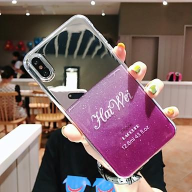 voordelige iPhone 5 hoesjes-hoesje Voor Apple iPhone XS / iPhone XR / iPhone XS Max Doorzichtig / Glitterglans Achterkant Glitterglans Hard PC