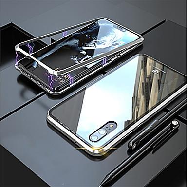 رخيصةأون أغطية أيفون-غطاء من أجل Apple iPhone XS / iPhone XR / iPhone XS Max مغناطيس غطاء خلفي شفاف ألمنيوم