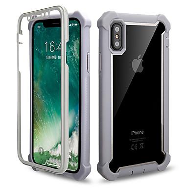 voordelige iPhone 6 hoesjes-hoesje Voor Apple iPhone XS / iPhone XR / iPhone XS Max Schokbestendig / Transparant Achterkant Schild Hard TPU / Acryl