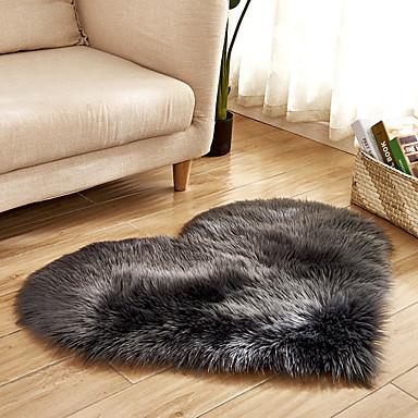 دونغ قوان pho_07r4 على شكل قلب 40x50cm الحب تقليد الصوف السجاد الكلمة حصيرة فراش بطانية أريكة وسادة القدم وسادة أفخم غرفة المعيشة طاولة القهوة أريكة غرفة نوم بيضاء