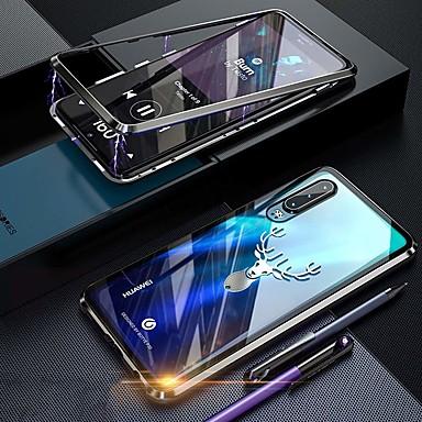 رخيصةأون Huawei أغطية / كفرات-غطاء من أجل Huawei Huawei P30 Pro ضد الصدمات / ضد الغبار / شفاف غطاء كامل للجسم شفاف قاسي زجاج مقوى