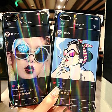 Недорогие Кейсы для iPhone 6-Кейс для Назначение Apple iPhone 8 Pluss / iPhone 8 / iPhone 7 Plus С узором Кейс на заднюю панель Соблазнительная девушка Твердый Закаленное стекло