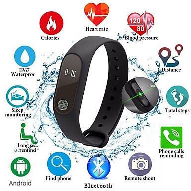 Недорогие Смарт-электроника-m2 smart band дети спортивные часы для мужчин, женщин фитнес-трекер монитор сердечного ритма сообщение напоминание жизни водонепроницаемый браслет