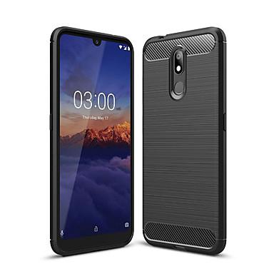 Недорогие Чехлы и кейсы для Nokia-Кейс для Назначение Nokia Nokia 4.2 / Nokia 3.2 Защита от пыли Кейс на заднюю панель Однотонный Мягкий Углеродное волокно