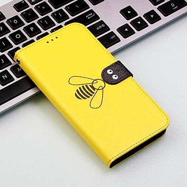 voordelige iPhone 8 hoesjes-hoesje Voor Apple iPhone XS / iPhone XR / iPhone XS Max Portemonnee / Kaarthouder / Schokbestendig Volledig hoesje Tegel / dier Hard PU-nahka