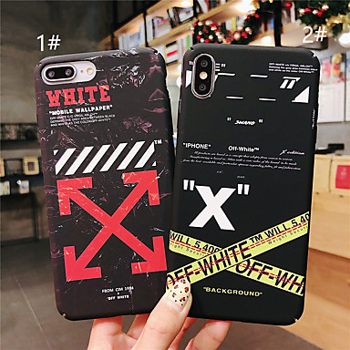 voordelige iPhone 6 hoesjes-hoesje voor apple iphone xr / iphone xs max patroon / glow in the dark achterkant woord / zin harde pc voor iphone x xs 8 8plus 7 7plus 6 6plus 6s 6splus