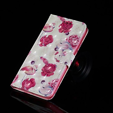 Недорогие Кейсы для iPhone-Кейс для Назначение Apple iPhone XS / iPhone XR / iPhone XS Max Кошелек / Бумажник для карт / Флип Чехол Животное Твердый Кожа PU