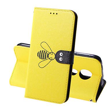 Недорогие Чехлы и кейсы для Motorola-Кейс для Назначение Motorola Мото G7 / Мото G7 Plus / Moto G7 Play Кошелек / Бумажник для карт / Защита от удара Чехол Однотонный / Животное Твердый Кожа PU