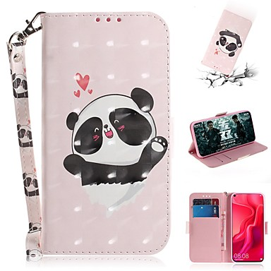 povoljno Maske/futrole za Huawei-Θήκη Za Huawei Y9 (2018)(Enjoy 8 Plus) / Huawei Y7 Pro (2019) / Huawei Y6 (2018) Novčanik / Utor za kartice / Otporno na trešnju Korice Panda PU koža
