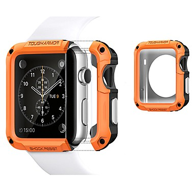 cheap Smartwatch Cases-Cases For Apple Watch Series 4/3/2/1 TPU / Plastic Compatibility Apple