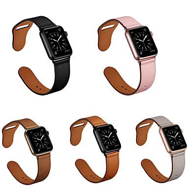 voordelige Smartwatch-accessoires-smartwatch voor appel apple horloge serie 4 transparant 4e generatie beschermhoes apple klassieke gesp lederen polsband