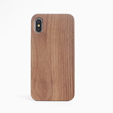 Недорогие Кейсы для iPhone-Кейс для Назначение Apple iPhone X Защита от удара Кейс на заднюю панель Имитация дерева Твердый деревянный