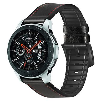 voordelige Horlogebandjes voor Samsung-leathesilicone sportriem voor samsung gear s3 grens / klassiek horloge 46mm horlogeband armband pols 22mm bands vervangende riem