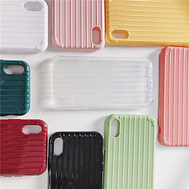 Недорогие Кейсы для iPhone 7-чехол для яблока iphone xs max / iphone x ультратонкий / imd задняя крышка однотонная мягкая тпу для iphone 6 / iphone 6 plus / iphone 6s