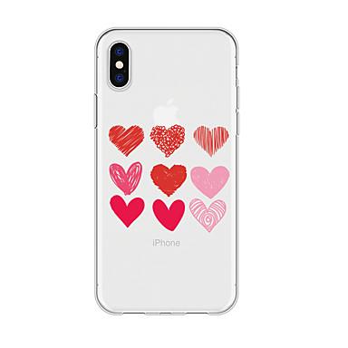 voordelige iPhone-hoesjes-hoesje voor iphone x xs max xr xs achterkant zachte hoes tpu simple heart soft tpu voor iphone5 5s se 6 6p 6s sp 7 7p 8 8p16 * 8 * 1
