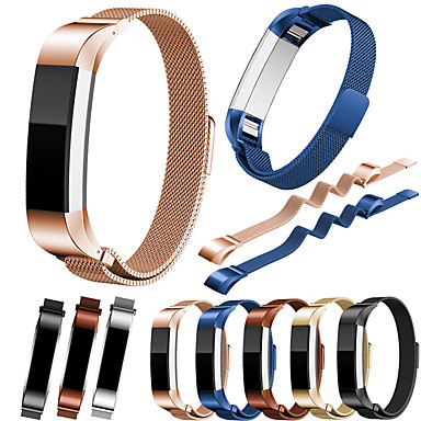 Недорогие Ремешки для спортивных часов-Ремешок для часов для Fitbit Alta HR / Fitbit Alta Fitbit Миланский ремешок Нержавеющая сталь Повязка на запястье