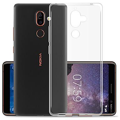 Недорогие Чехлы и кейсы для Nokia-Кейс для Назначение Nokia Nokia 7 Plus / Nokia 7.1 Защита от пыли Кейс на заднюю панель Однотонный Мягкий ТПУ