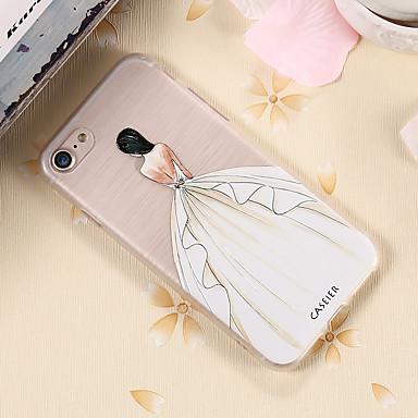 voordelige iPhone-hoesjes-hoesje Voor Apple iPhone 7 Plus / iPhone 7 / iPhone 6s Plus Waterbestendig / Stofbestendig / Doorzichtig Achterkant Sexy dame TPU