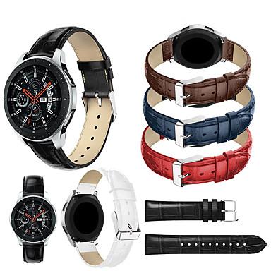 Недорогие Часы для Samsung-браслет из натуральной кожи ремешок для часов ремешок для часов samsung galaxy 46 мм / gear s3 classic / gear s3 frontier умные часы браслет аксессуары