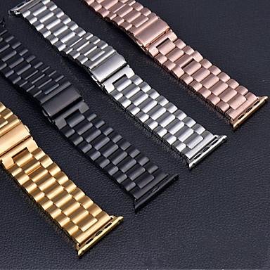 Недорогие Ремешки для Apple Watch-Ремешок для часов для Apple Watch Series 4/3/2/1 Apple Бабочка Пряжка Нержавеющая сталь Повязка на запястье