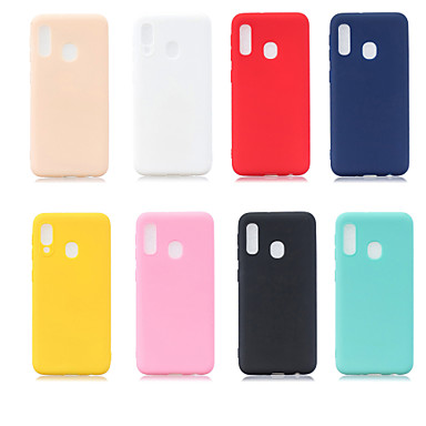 voordelige Galaxy A-serie hoesjes / covers-hoesje Voor Samsung Galaxy A6 (2018) / A6+ (2018) / Galaxy A7(2018) Mat Achterkant Effen Zacht TPU
