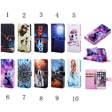 voordelige iPhone 6 Plus hoesjes-hoesje voor apple iphone xs max / iphone 8 plus shockproof / portemonnee / kaarthouder full body cases dier / 3d cartoon / panda hard tpu / pu leer voor iphone 7/7 plus / 8/6/6 plus / xr / x / xs