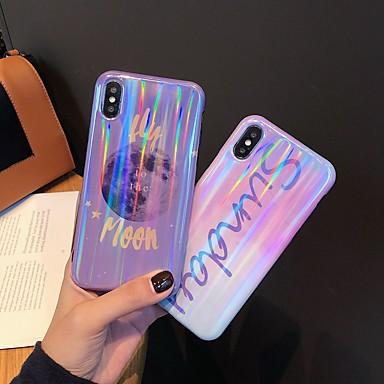 voordelige iPhone-hoesjes-hoesje Voor Apple iPhone XS / iPhone XR / iPhone XS Max Schokbestendig / Patroon Achterkant Hemel / Kleurgradatie TPU