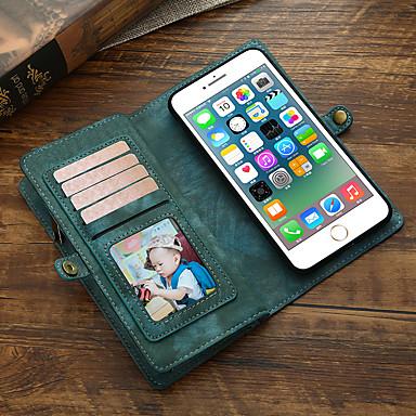 Недорогие Кейсы для iPhone 7 Plus-Кейс для Назначение Apple iPhone 8 Pluss / iPhone 7 Plus Кошелек / Бумажник для карт / Флип Чехол Однотонный Кожа PU